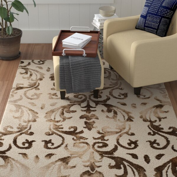 Coleman Hand-Tufted Ivory/Chocolate Area Rug by Winston Porter