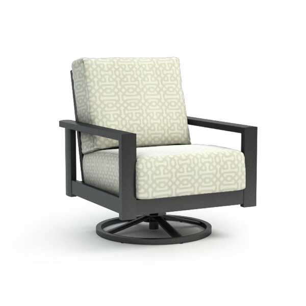 Kayleigh Swivel Patio Chair with Cushion by Longshore Tides