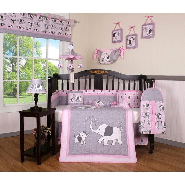 Elephant Dynasty Boutique 13 Piece Crib Bedding Set by Geenny