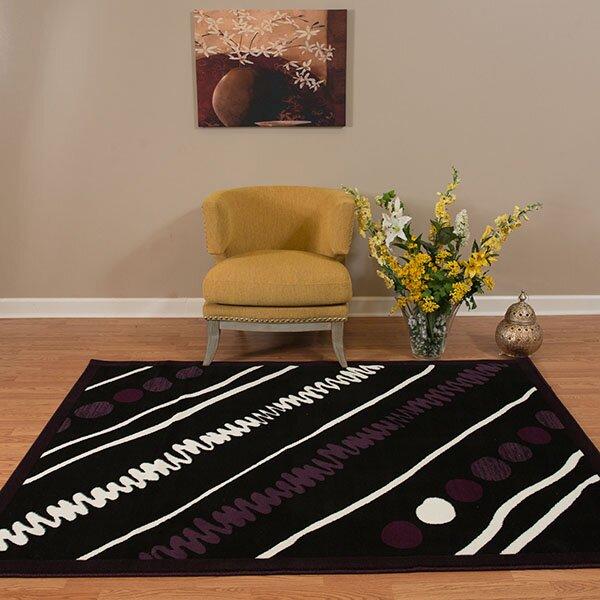 Eloise Black/White Area Rug by Ebern Designs