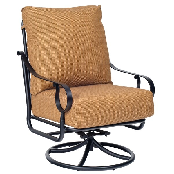 Ridgecrest Swivel Rocking Chair with Cushions by Woodard