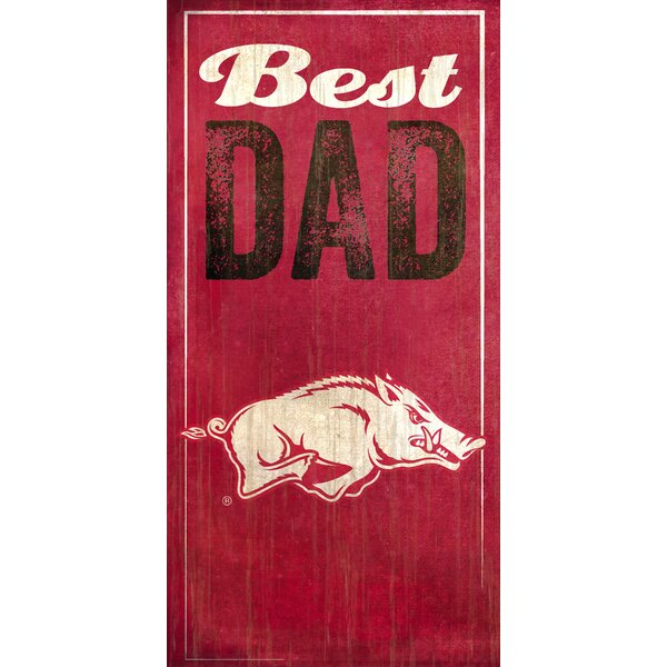 NCAA Best Dad Textual  Art Plaque by Fan Creations