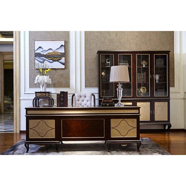 Crandell Solid Wood Executive Desk