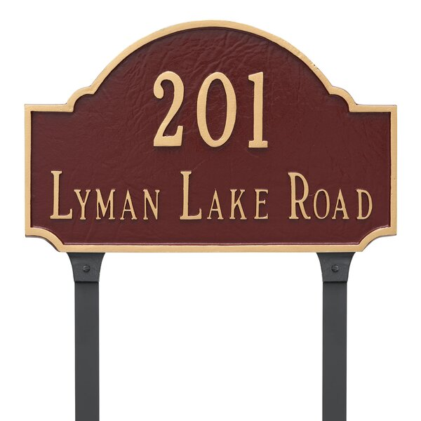 2-Line Lawn Address Sign by Montague Metal Products Inc.