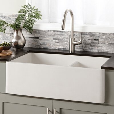 Native Trails Kitchen Sink Double Basin Pearl Kitchen Utility Sinks