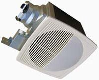 100 CFM Energy Star Bathroom Fan with Light/Nightlight by Aero Pure