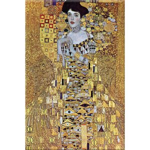 'Portrait of Block-Bauer' by Gustav Klimt Painting Print by Buyenlarge