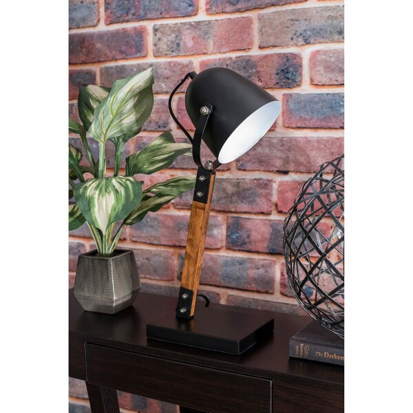 Lincoln Wood and Metal 20 Desk Lamp