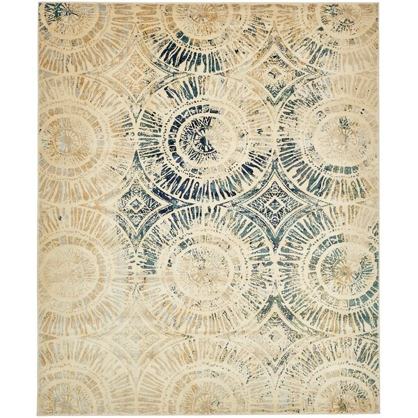 Jani Traditional Beige Area Rug by Bloomsbury Market