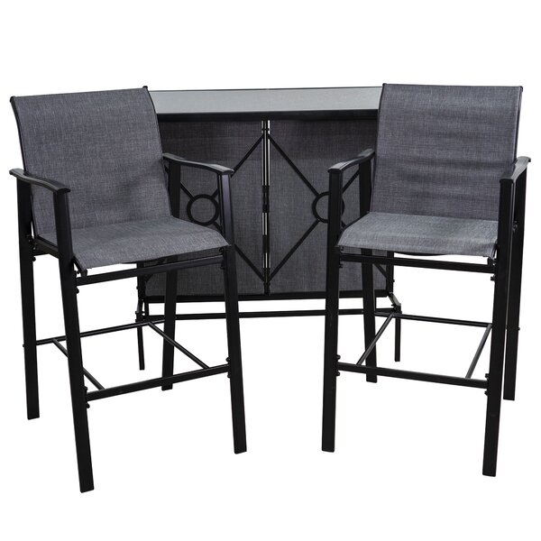 Aloïse 3-Piece Bar Set by Latitude Run