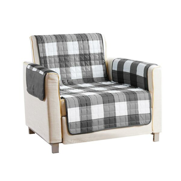 Checkerboard Reversible Waterproof T-cushion Armchair Slipcover By Red Barrel Studio