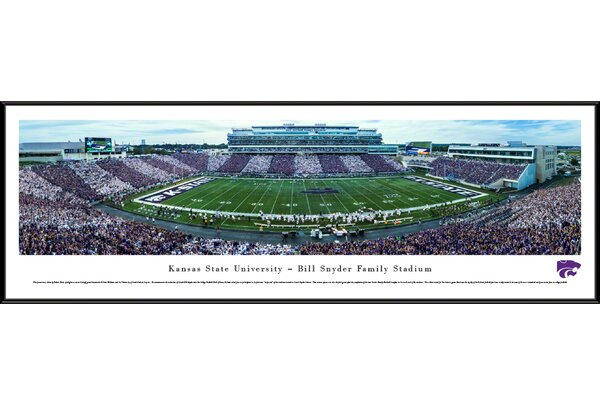 NCAA Kansas State University - 50 Yard Line - Stripe by Robert Pettit Framed Photographic Print by Blakeway Worldwide Panoramas, Inc