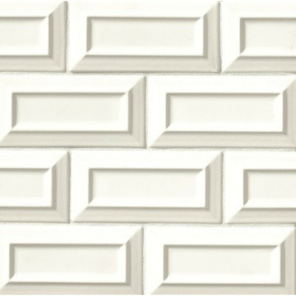 Portofino 3 x 6 Beveled Subway Tile in White Sand by Grayson Martin
