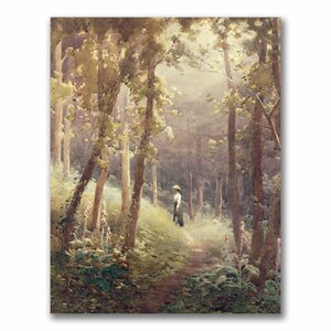 A Woodland Glade by Joseph Farquharson Painting Print on Canvas by Trademark Fine Art