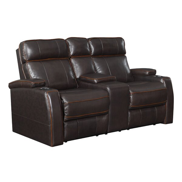 Safiyyah Leather Reclining Loveseat By Ebern Designs