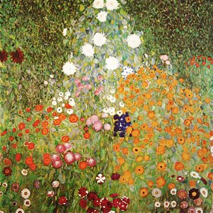 'Flowery Garden' by Gustav Klimt Painting Print on Wrapped Canvas by Buy Art For Less