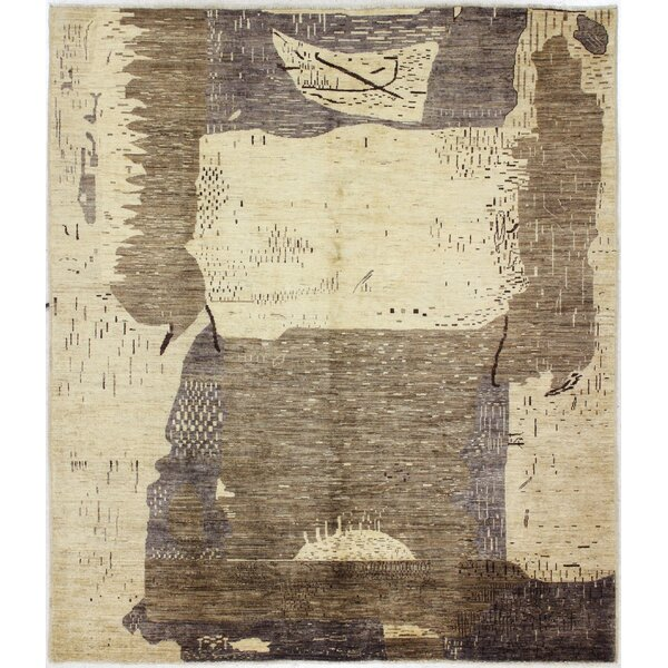 One-of-a-Kind Laveder Hand-Woven Wool Beige/Brown Area Rug by Orren Ellis