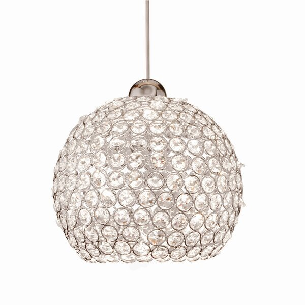 Crystal Roxy LEDme Monopoint 1-Light Globe Pendant by WAC Lighting