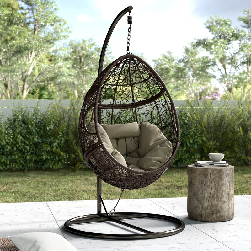 Trent Austin Design Dawson Outdoor Basket Swing Chair With Stand