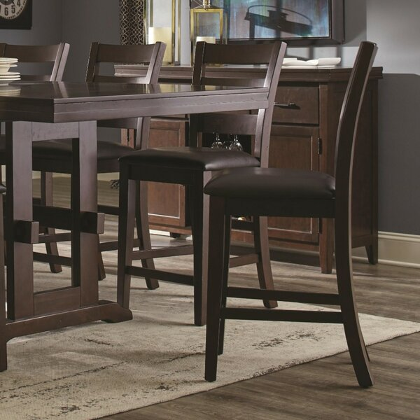 Kitson Counter Height Solid Wood Dining Chair (Set of 2) by Alcott Hill