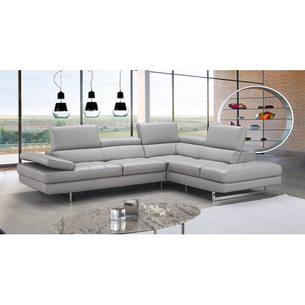 Ashburton Leather Sectional by Orren Ellis