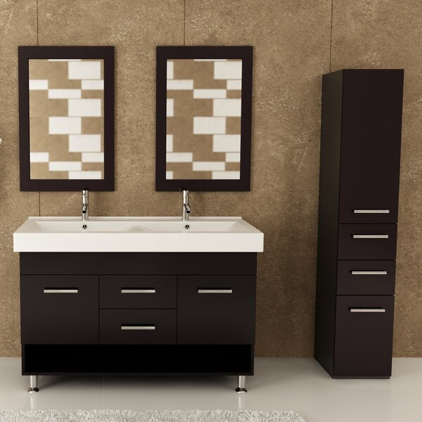 Rigel 48 Double Bathroom Vanity Set by JWH Living