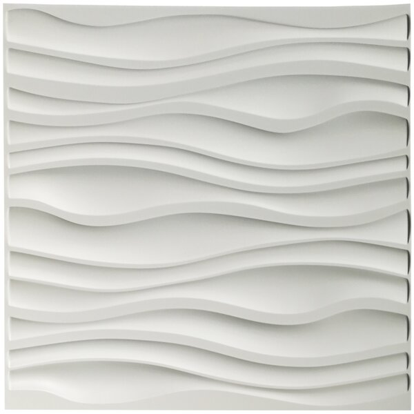 Porter-Mahoney Wave Board 19.7 L x 19.7 W 3D Embossed Wallpaper Panel by Orren Ellis