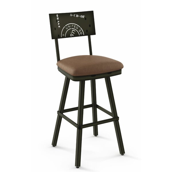 Haylee Bar & Counter Swivel Stool by Williston Forge Williston Forge