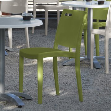 Metro Stacking Patio Dining Chair (Set of 4) by Grosfillex Commercial Resin Furniture