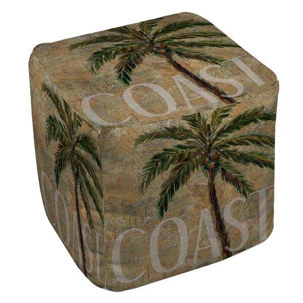 Coastal Palm Postcard Pouf By Manual Woodworkers & Weavers Amazing