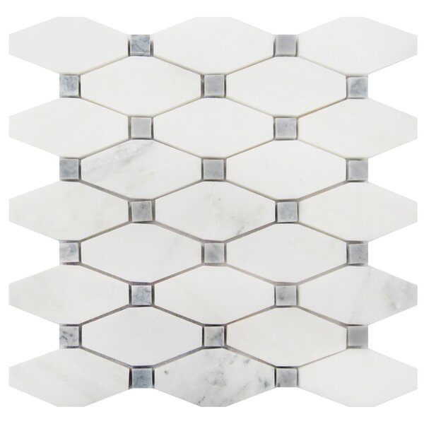 2 x 4 Marble Mosaic Tile in Oriental White/Gray by Luxsurface