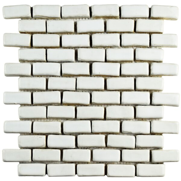 Greenwich 0.86 x 1.84 Ceramic Mosaic Tile in White by EliteTile