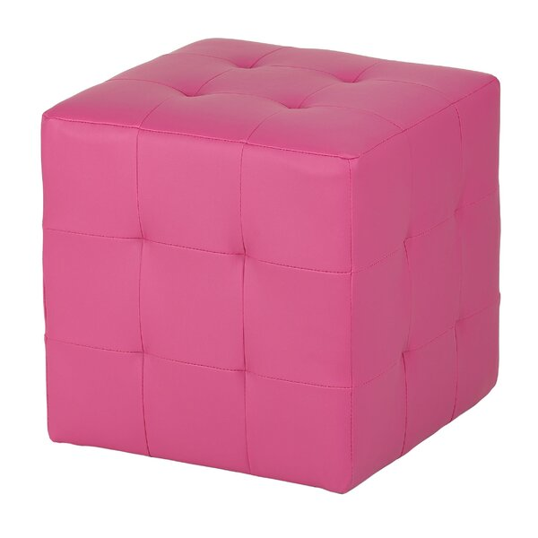Braque Leather Cube Ottoman by Cortesi Home