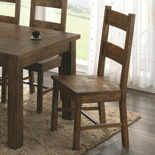 Weise Armless Wooden Dining Chair (Set of 2) by Millwood Pines
