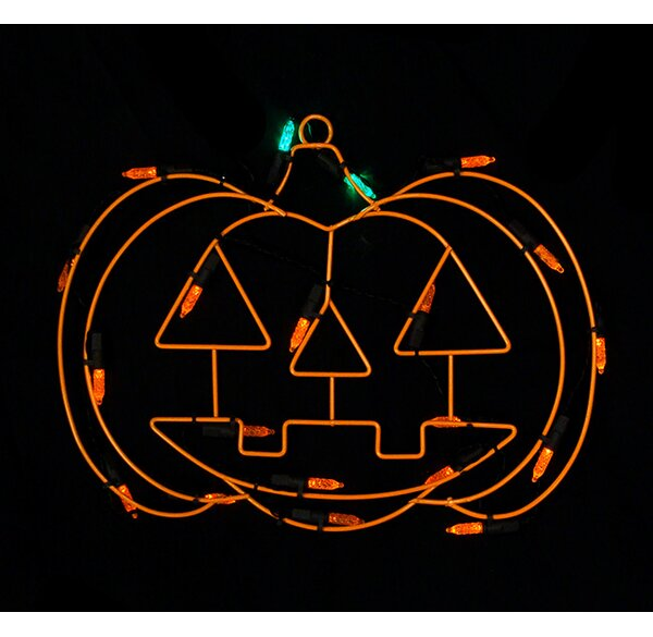 Battery Operated LED Pumpkin Halloween Window Silhouette Decoration by Sienna Lighting