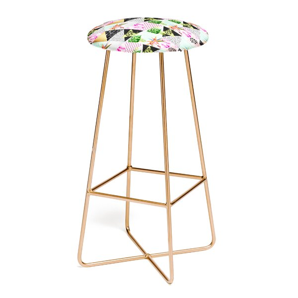 Marta Barragan Camarasa Geometric Tropical 30 Bar Stool by East Urban Home