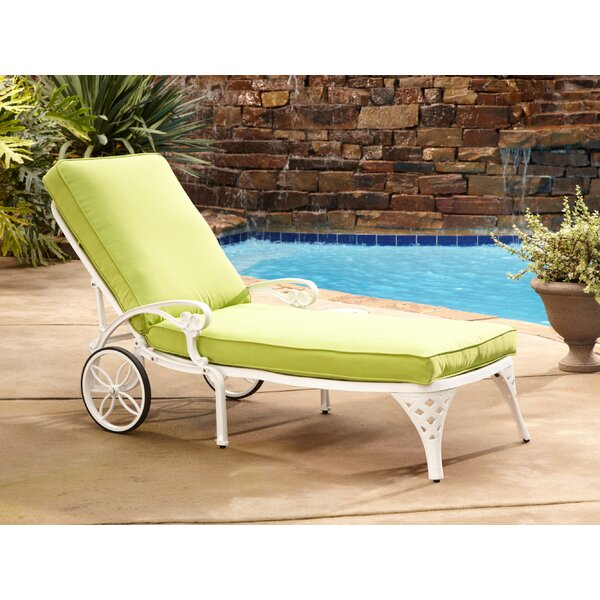 Ayleen Chaise Lounge with Cushion by August Grove August Grove