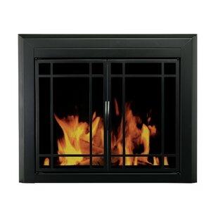 Easton Prairie Single Panel Steel Fireplace Screen