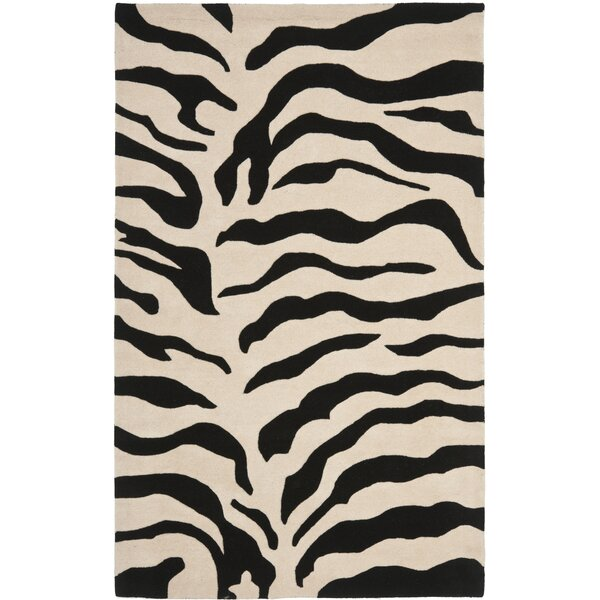 Dorthy Beige/Black Area Rug by Bloomsbury Market