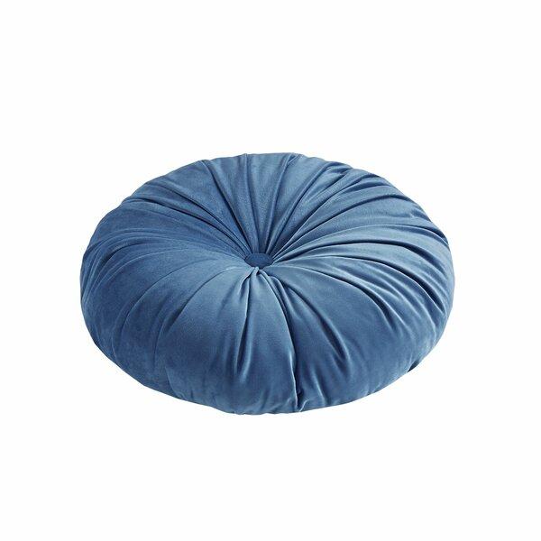 Fulton Round Velvet Throw Pillow by House of Hampton