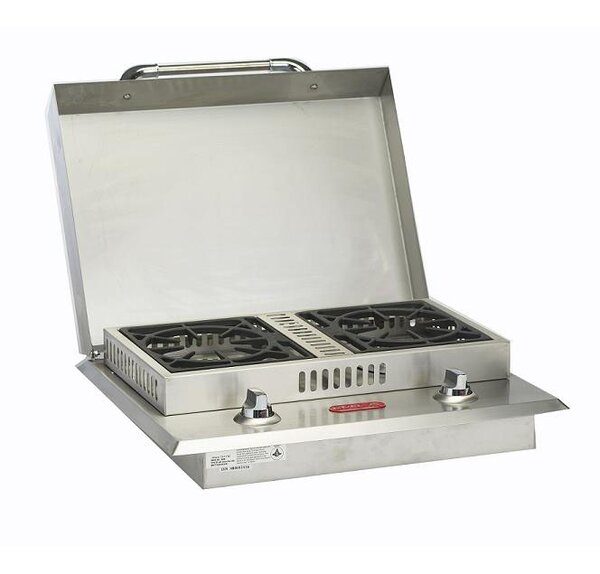 Stainless Steel Liquid Propane Double Side Burner by Bull Outdoor Products