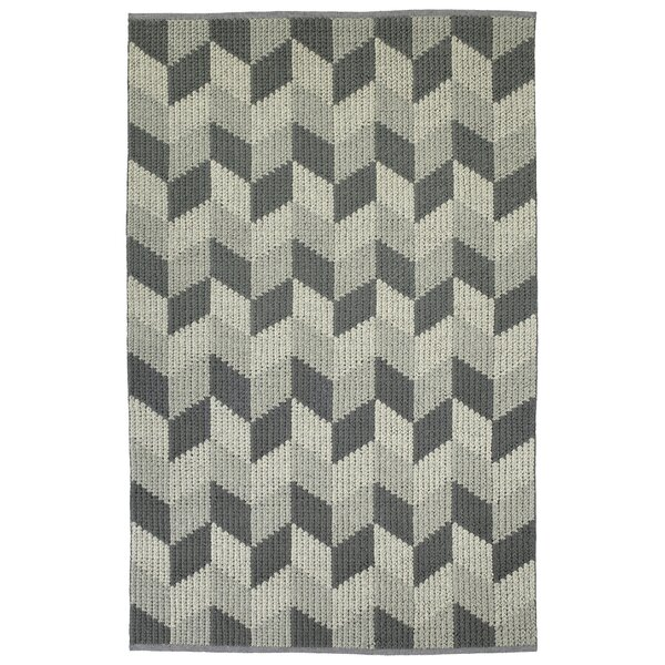 Stockstill Hand-Tufted Wool Gray/Graphite Area Rug by Wrought Studio