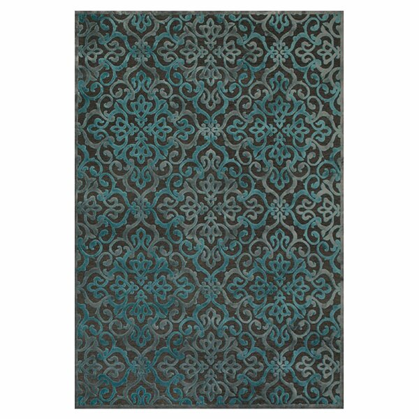 Channahon Dark Gray/Marine Area Rug by Charlton Home