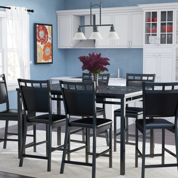 Pickerington 7 Piece Counter Height Dining Table Set by Winston Porter