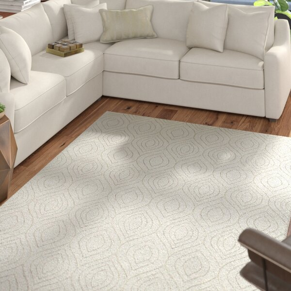 Mizel Hand Woven Wool Ivory Area Rug by Mercury Row