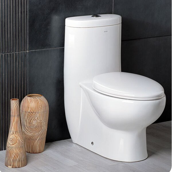 Delphinus Dual Flush Elongated One-Piece Toilet by Fresca