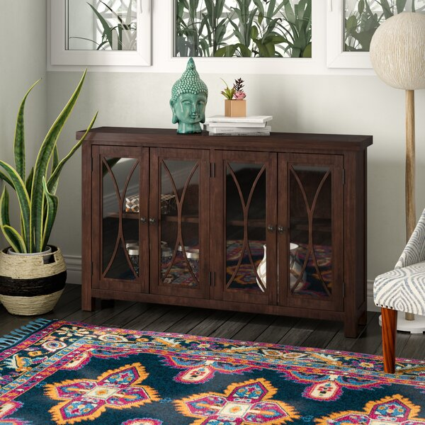 Sierra Madre 4 Door Accent Cabinet by Bungalow Rose