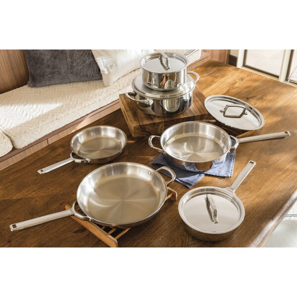 10 Piece Stainless Steel Cookware Set by Wolf Gourmet