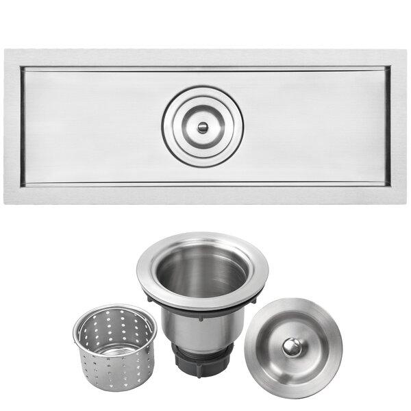 Bradford Series 22 L x 8 W Undermount Kitchen and Bar Sink by Ticor Sinks