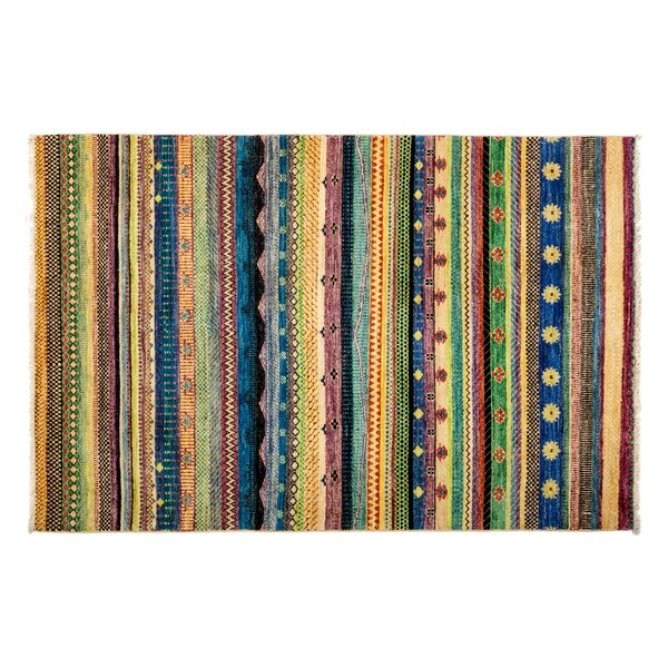 One-of-a-Kind Lori Hand-Knotted Green/Blue/Yellow Area Rug by Darya Rugs